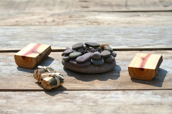 miniature furniture fairy garden campfire set. Black Bedroom Furniture Sets. Home Design Ideas