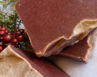 Christmas Soaps, Spicy, Berries, Vegan, Red, Christmas Morning
