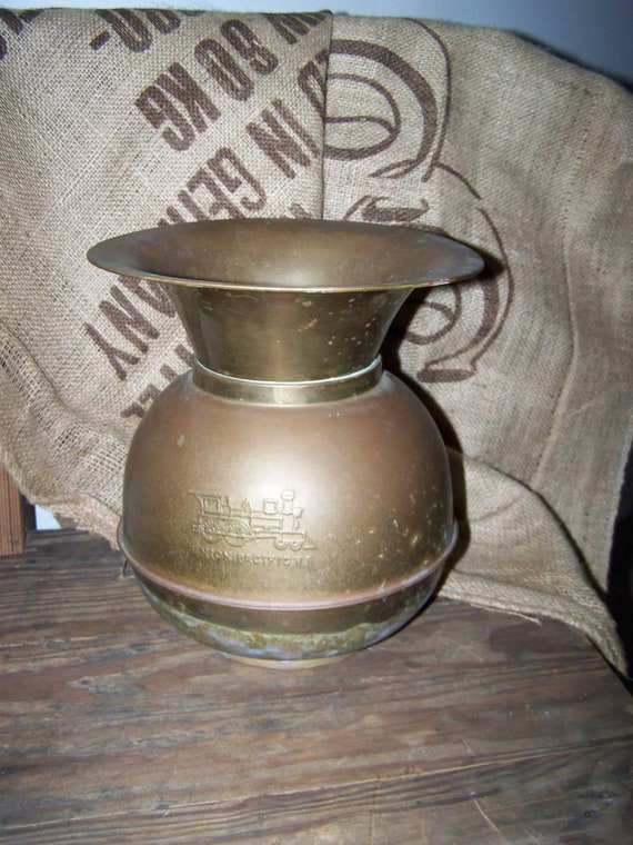 Brass Spittoon Union Pacific Railroad