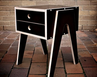 Bedside Table with soft closing drawer made from birch form ply
