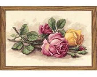 Cross Stitch Kit - Rose Cuttings