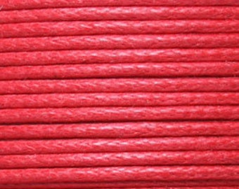 10 Meters 0.7mm or 1.0mm RED Waxed Cotton Cord, bracelet cord, necklace cord, macrame cord, kumihimo cord, Beading Cord