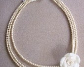 Ivory pearls with flower
