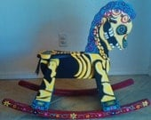 Day of the Dead Rocking Horse