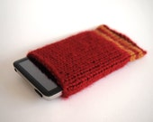 harry potter ipod cozy -- gryffindor striped ipod sleeve case