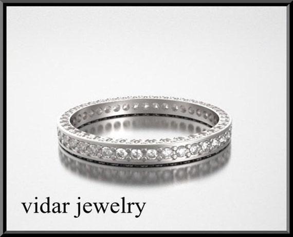 Unique Wedding Band,Diamond Wedding Band,Eternity Wedding Band,Womens Wedding Band,14K Gold Wedding Band,Vintage Wedding Ring,Diamonds Band