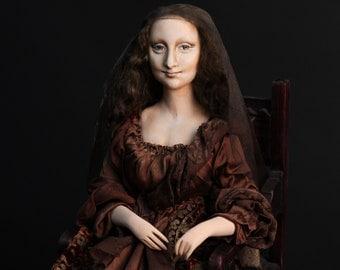 Doll Mona Lisa del Giocondo, Paperclay