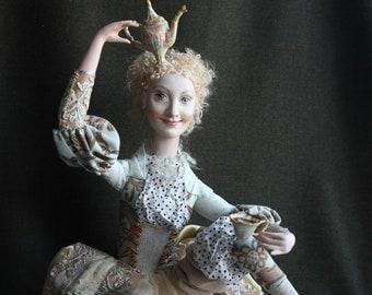 Art Doll Coffee Fairy,  hand made
