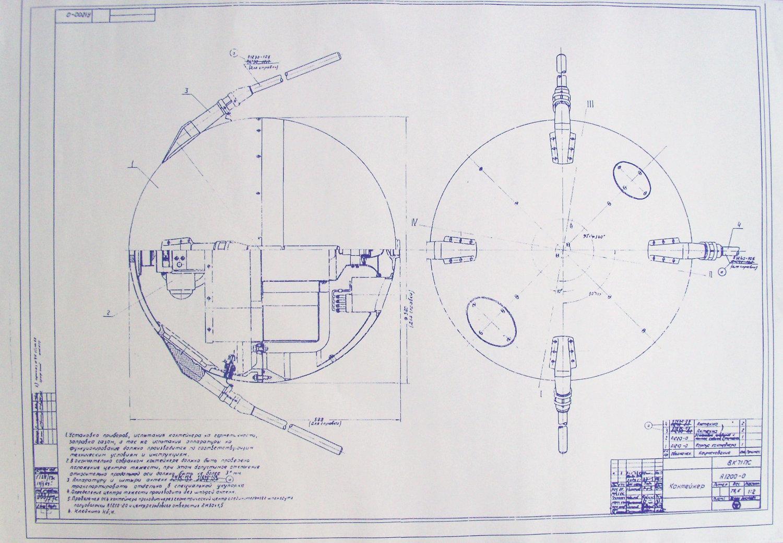 Soviet Union Sputnik Satellite Blueprint By Blueprintplace