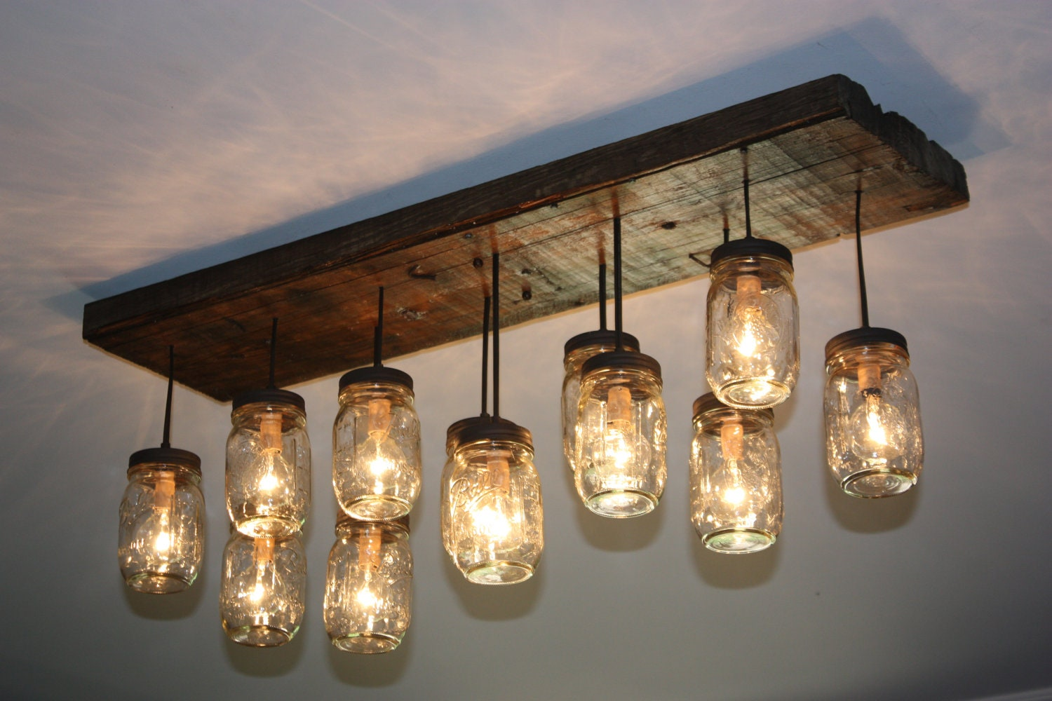 The coming home custom mason jar chandelier - Light fixtures chandeliers ...
