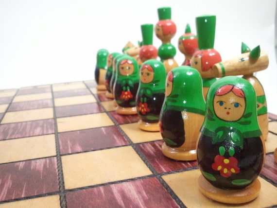 Babushka Decorative Chess Set