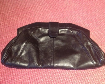Vintage Italian Leather Clutch Bag
