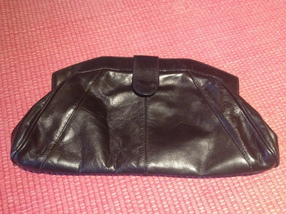 Vintage Italian Leather Clutch Bag