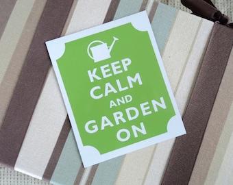 Keep calm garden on fridge magnet