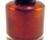 Of An Empire Nail Polish - Gorgeous Red Brown - Red Gold Shimmer and Gold Glitter - Full Size