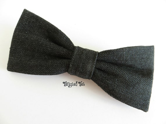 items similar to bow tie for boys denim bow
