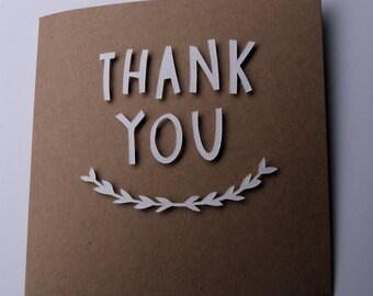 Thank You Card - White