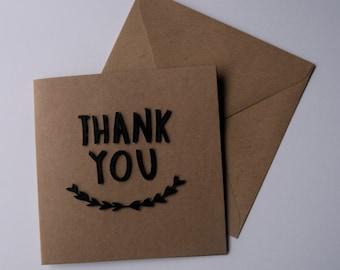 Thank You Card - Black