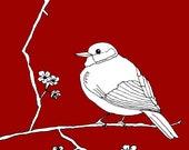 Bird Art print Digiatl download, bird art print, poster art print, bird poster, bird print, poster print, art print, bird print illustration