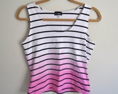 pink ombre striped tank