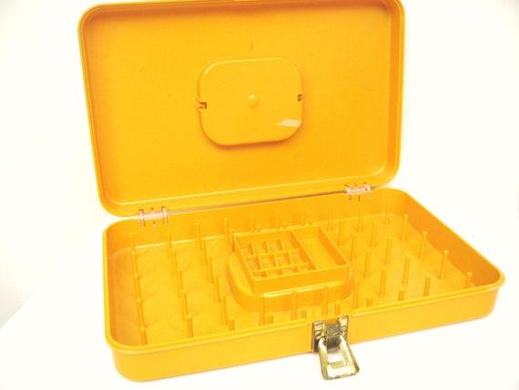 Vintage Thread Spool Storage Case