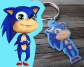 Sonic the Hedgehog Cute Plastic Keychain
