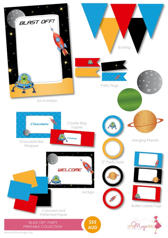 Space Party Supplies Lifes Little Celebration – Space Party Invitations
