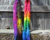 Hand-Dyed Merino/Nylon Sock Yarn -Chasing Rainbows