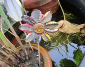 Bottle Cap flower garden stakes