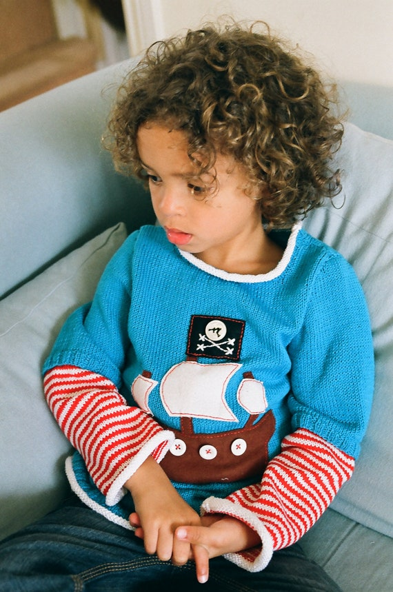 Boy's Striped Pirate Sweater to fit age 4-6