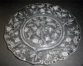 Vintage Fostoria Baroque Etched Chintz Scalloped Salad Plate