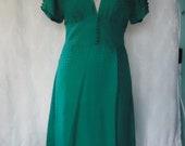 Sea green/teal polka dotted dress