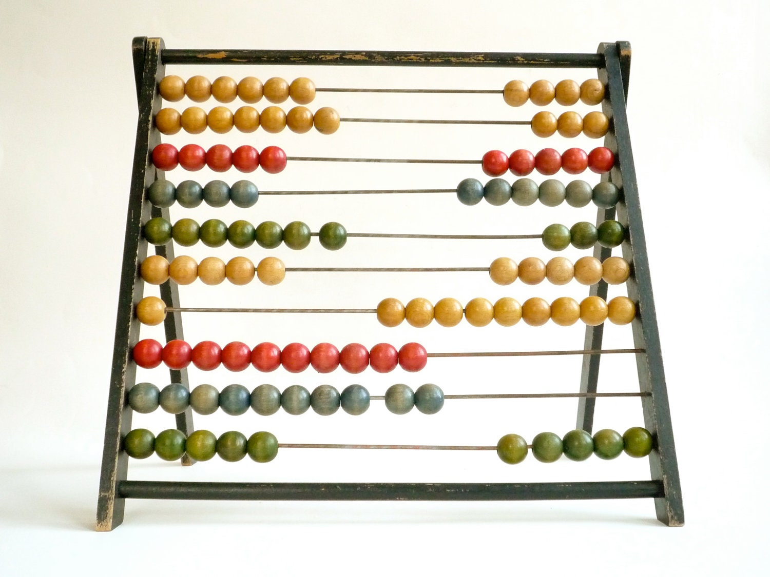 Home Decor Hong Kong Large Vintage Abacus With Wooden Beads Vintage Nursery
