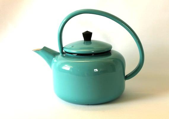 Turquoise Enamel Kettle
