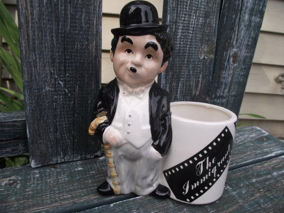 Charlie Chaplin Decorative Vase or Planter