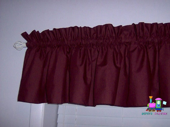 Burgundy+Valances Solid Burgundy Valance Curtain window treatment , 58 ...
