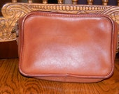 Vintage Tan Leather Mini Coach Bag