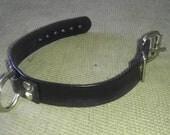 BDSM leather bondage collar for kinky fun or master slave fun
