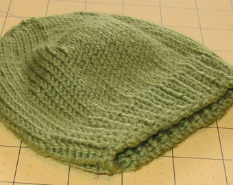 Hand Knit Green Tea Cashmere Baby Beanie