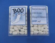 HALLOWEEN GHOST POOP,halloween candy,tic tac label,Halloween sticker,halloween favor