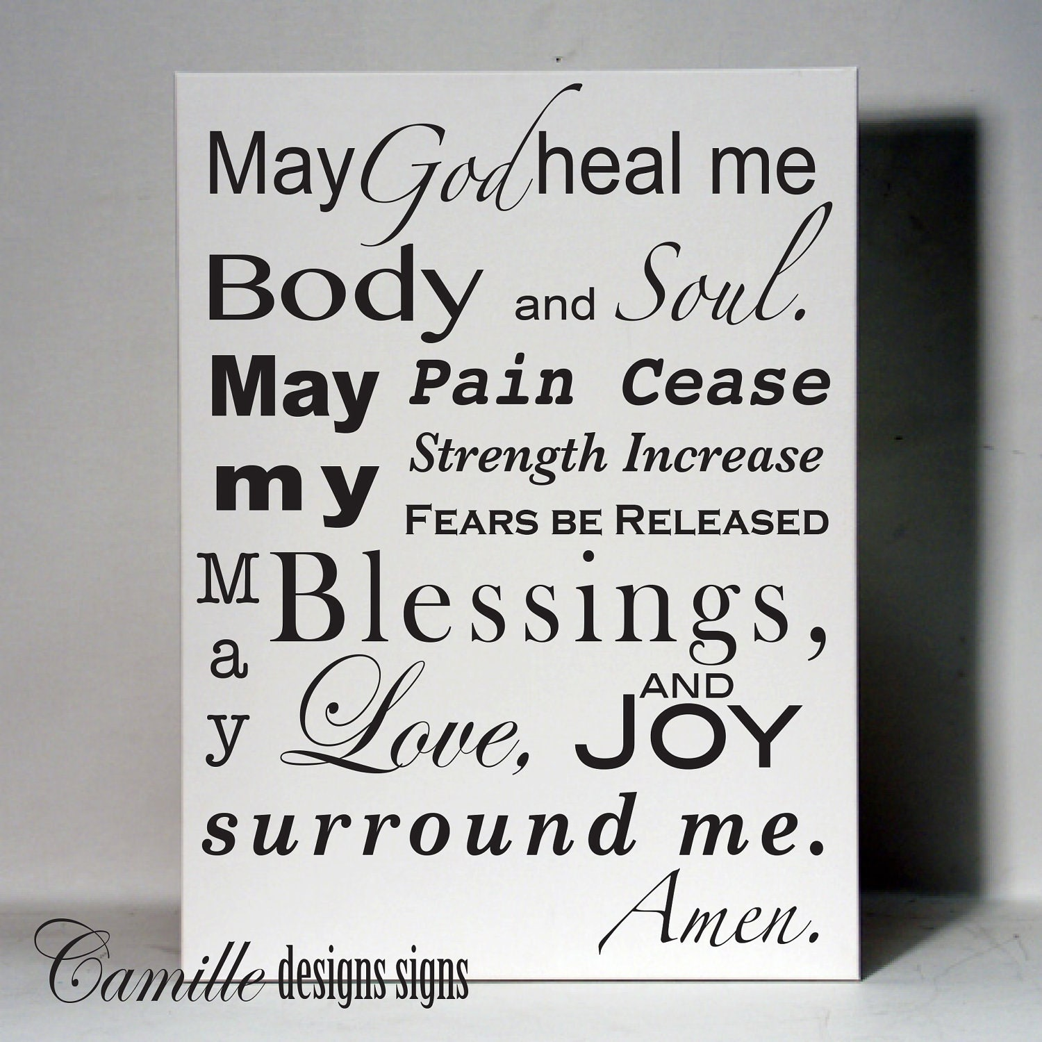 healing prayer vinyl wall lettering decal by