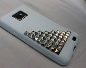 White Studded Silicone Phone Case for Samsung Galaxy S2 i9000
