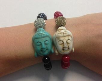 Buddha Shamballa Swarovski Rhinestone Beaded Bracelet