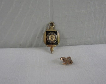 Vintage High School Pin and Pendant.  1930s Waynesboro High School Pin and Pendant. Art Deco High School Lapel Pin