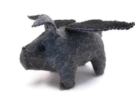 Flying Pig Gray