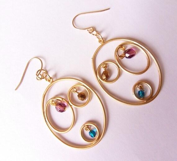 or perl boucles doreilles ohrringe croles or hoops cerceaux dor perles croles or perl