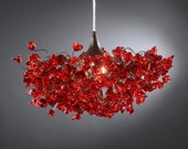Romantic Chandeliers with Red roses flowers for living room, bedroom, dinning room