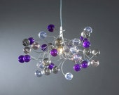Ceiling Lamp transparent bubbles with Purple, Gray and clear color bubbles for children room, hall, bathroom.