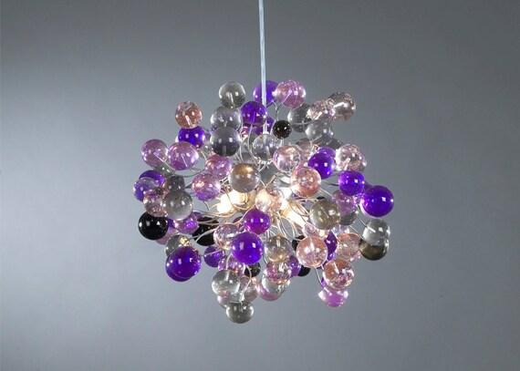 Ceiling Light Fixture Purple Shade Color Bubbles For Children