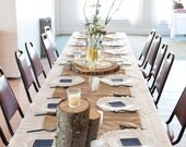 Burlap Runners, Rustic Wedding,  96x20inches- fits up to 90 inch rounds banquet tables and 6-8 foot long tables
